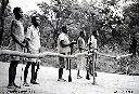 Guerriers du grand chef  baluba Kasongo Nyembo 1960