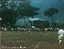 Football - Au loin, nuages au pied de la montagne