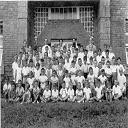 Stanleyville: Frères Maristes, à la Procure - J.P. 1er rang, 4e à partir de la dr.