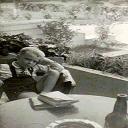 Stanleyville: Guesthouse Sabena le 29 Octobre 1953 - Attente de l'avion pour la Belgique - DC-4 de 13H pour Entebe (Ouganda)... qui n'arrive pas.