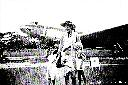 DERCK Bernard,Daniel,Jenny,maman Yrène Vanthournout 1955 à Albertville