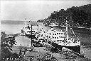 Duc de Brabant & Baron Dhanis à l'inauguration du port de Kabimba lors du Jubilé du CFL en 1952 (ph Grands Lacs)