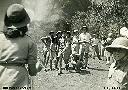 Visite des scouts HABONIM EN 1948 - Mon père, Moïse Mallel, à l'arrière avec le chapeau, et devant, le jeune garçon, feu mon frère Albert qui avait 8 ans