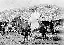 LUBUNDA - Le père Daems et son âne