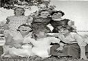 Athénée d'Albertville 1958 - M.Cl. Labeye, M-J Poulizac, J. Carpentier