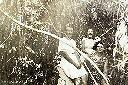 1946 - Jacotte, Suzi et moi près de la Katandala, petit ruisseau aux eaux claires et tumultueuses