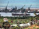 Vue du port à partir de ce qui s'appelait anciennement la colline CFL