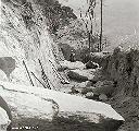 Construction voie de chemin de fer menant vers le camp supérieur Alt. 1631,50 m