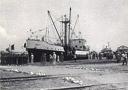 Baptême de la barge Muhila en 1952