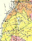 Carte géographique: localisation du Lac Léopold II