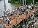 Installations du barrage rouillées et vétustes