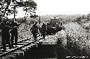 Patrouille de soldats irlandais sur la voie du CFL