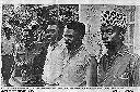 Etat-major de la rébellion (de g. à dr.): Jean-Sébastien RAMAZANI, Laurent KABILA, Gaston SOUMIALOT, Martin KASONGO. Le destin d'Albertville est entre leurs mains...